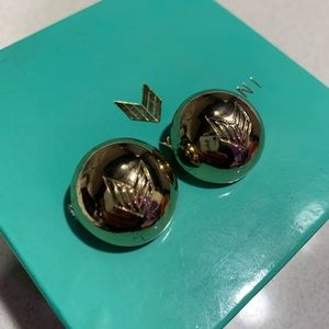 Melody Ehsani Gold Logo Stud Earrings